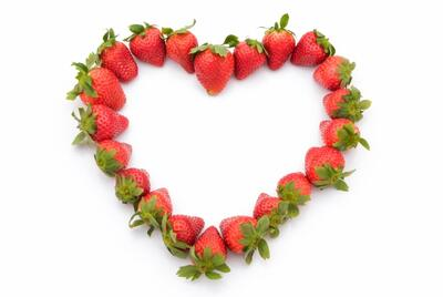 The heart from strawberries